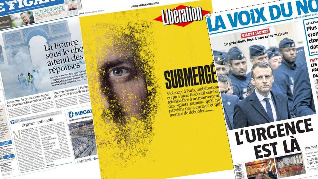 Au-delà du choc provoqué par les violences de samedi, la presse française estime désormais que la sortie de crise doit venir de l'Elysée