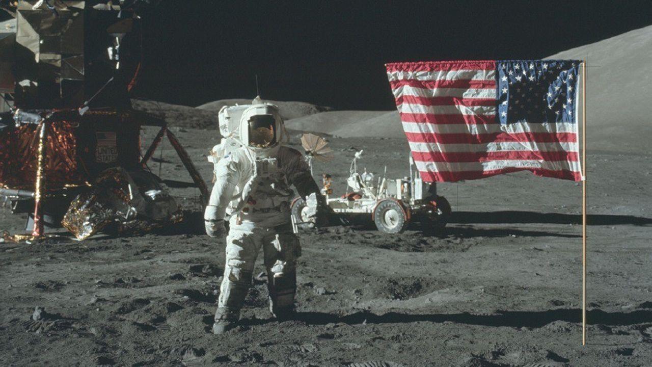 Photo prise durant la mission Apollo 17, la dernière mission du programme spatial Apollo à emmener des hommes à la surface de la Lune.