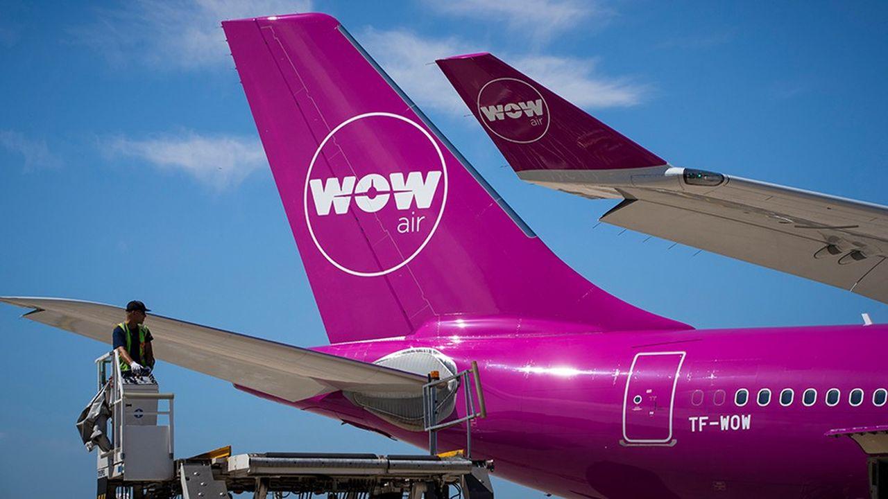 La compagnie islandaise Wow Air, en difficultés financières, s'est fait connaître grâce à ses vols transatlantiques à prix cassés.