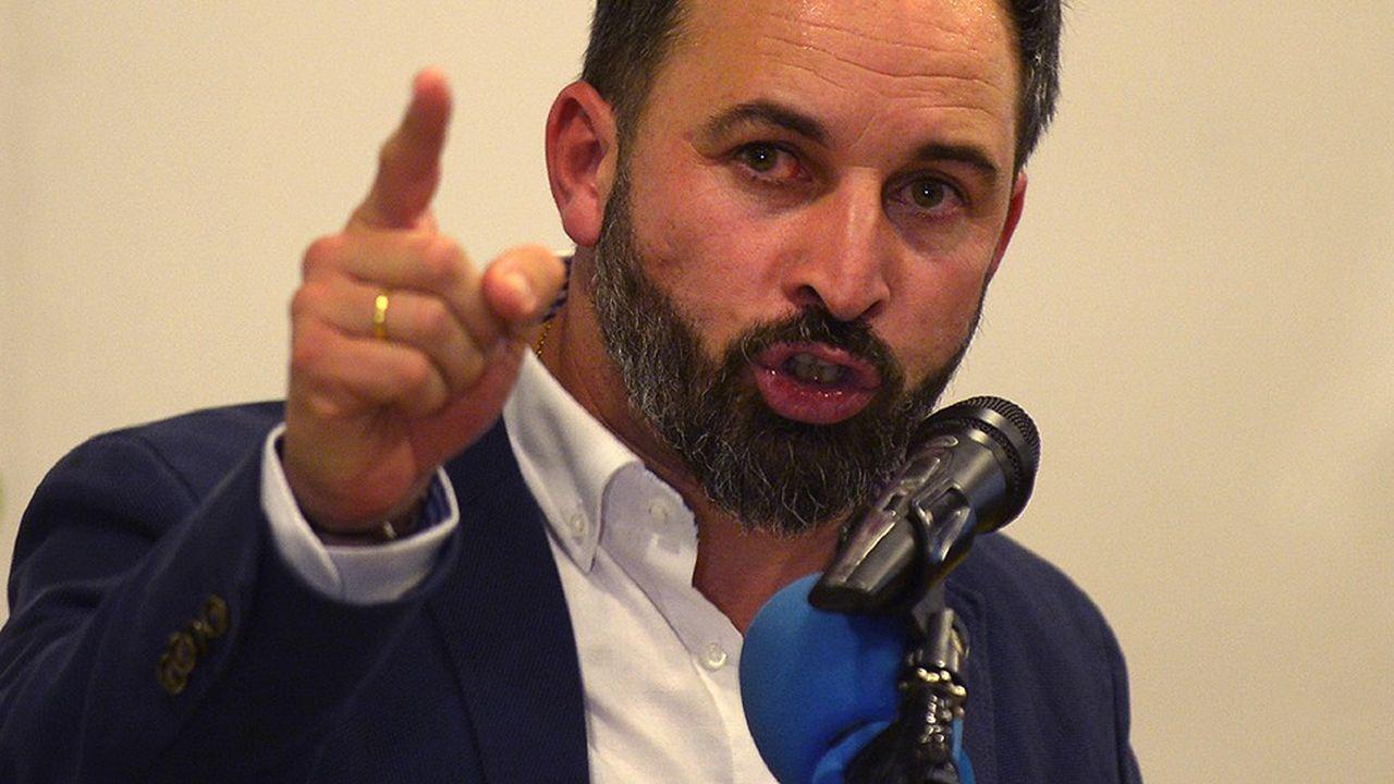 Santiago Abascal, le dirigeant espagnol du parti d'extrême droite VOX