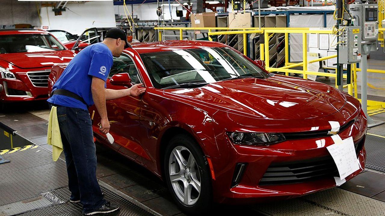 Usine GM dans le Michigan. Les constructeurs américains restent dépendants de leur histoire, avec des usines situées pour beaucoup dans la Rust Belt, où le coût du travail est supérieur.