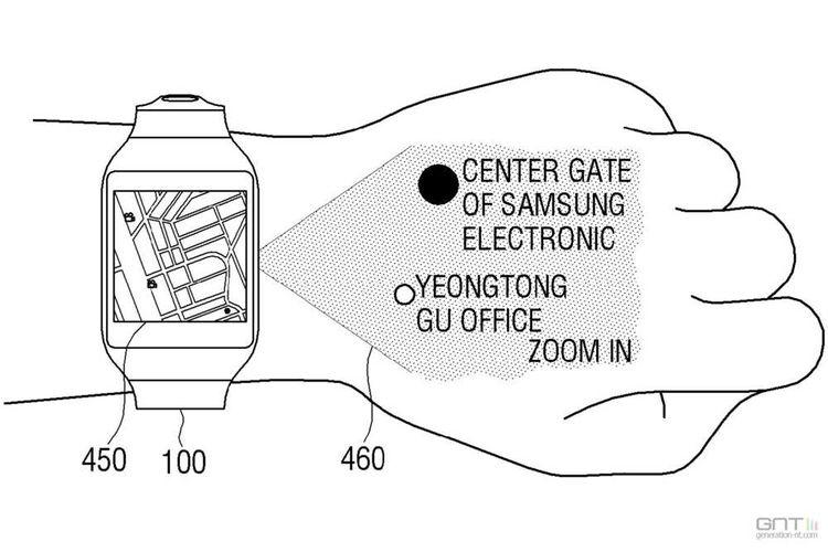 Samsung : l'étonnante montre connectée qui projette un clavier sur le dos de la main