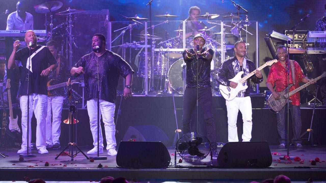 Le groupe Kool & the Gang à Monaco en août 2017.