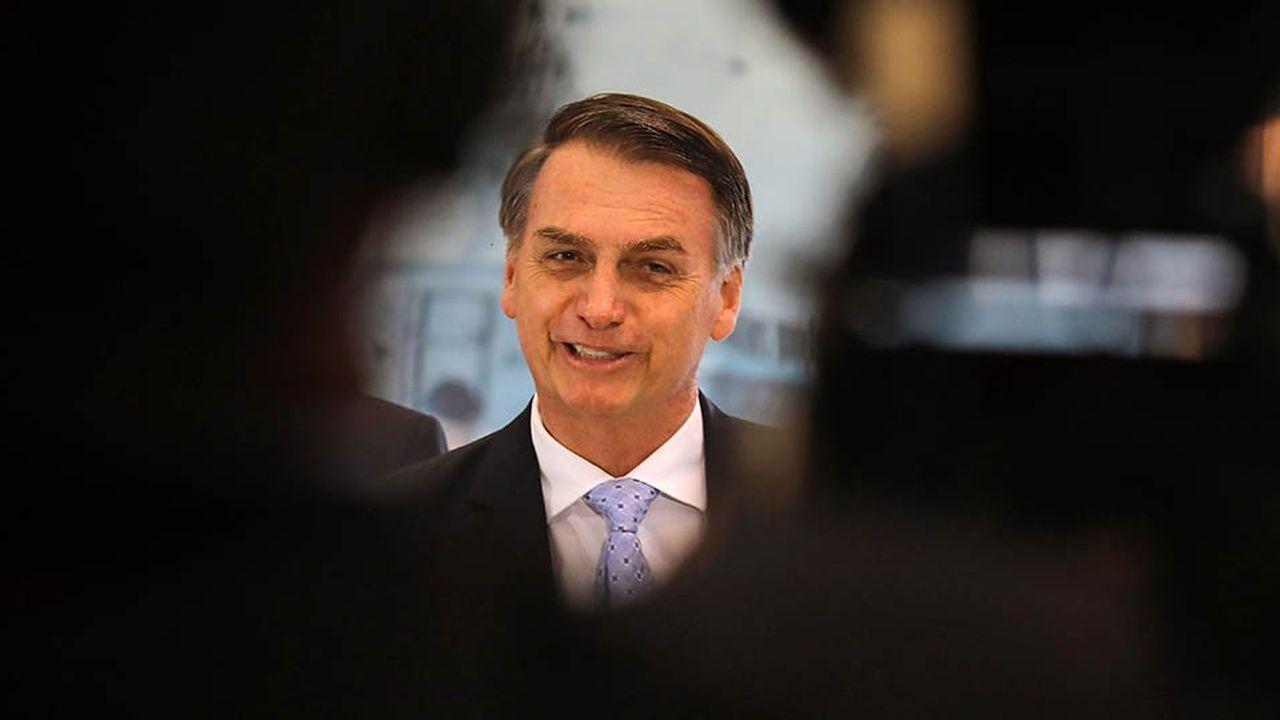 Jair Borsolano, le président élu du Brésil, le 22novembre 2018 à Brasilia.
