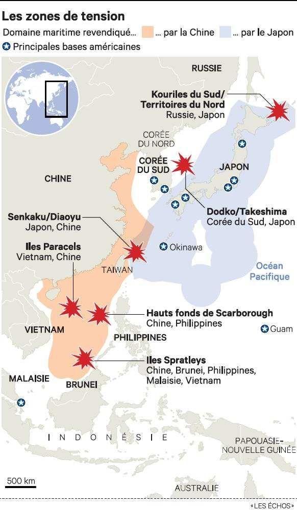 Carte Australie Chine.Pourquoi L Australie A Besoin De Sous Marins Les Echos
