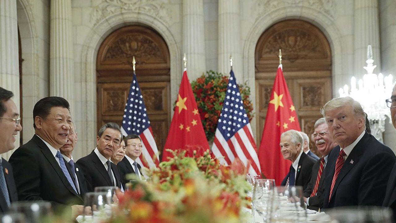 Donald Trump et Xi Jinping, durant leur rencontre bilatérale au sommet du G20.