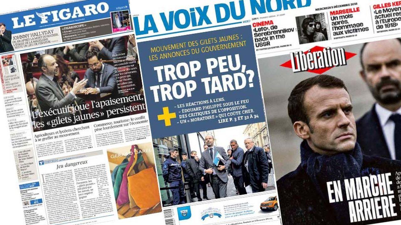 «Peut mieux faire», estiment les principaux médias français après les mesures annoncées par l'exécutif