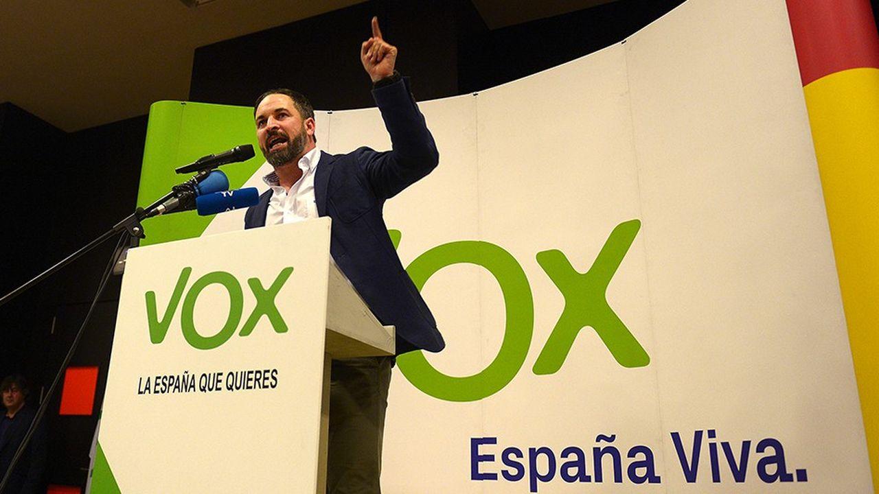 Santiago Abascal, le leader du mouvement Vox qui a fait une percée aux élections régionales en Andalousie, a fait du combat devant les tribunaux contre les indépendantistes catalans, son cheval de bataille.