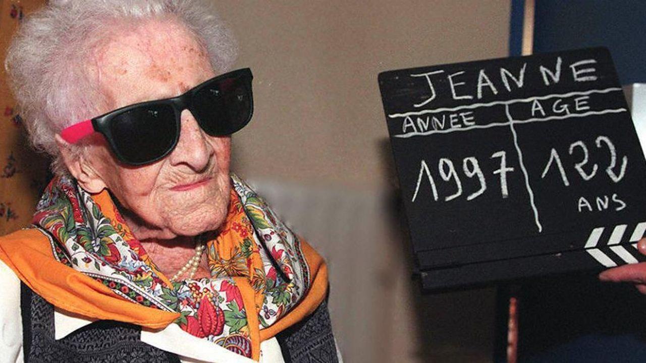 La vie de l'ancienne doyenne de l'humanité Jeanne Calment, photographiée ici à la veille de son 122e et dernier anniversaire, aura duré au total 44.724 jours. Ce record restera-t-il encore longtemps inégalé? Sur cette question, les réponses des spécialistes divergent.
