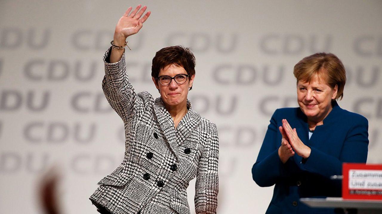Annegret Kremp-Karrenbauer a été élue vendredi présidente du parti conservateur allemand. Elle succède à Angela Merkel qui est décidée à rester chancelière