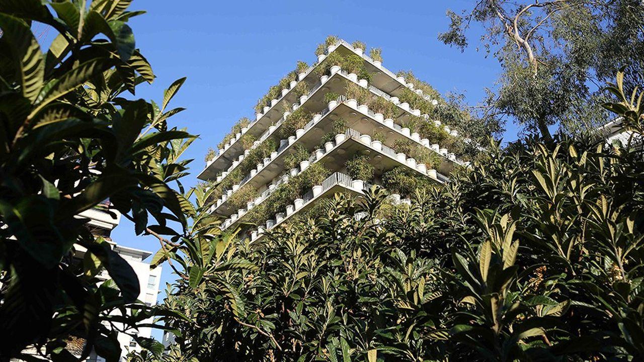 Un immeuble d'habitation végétalisé à Paris.