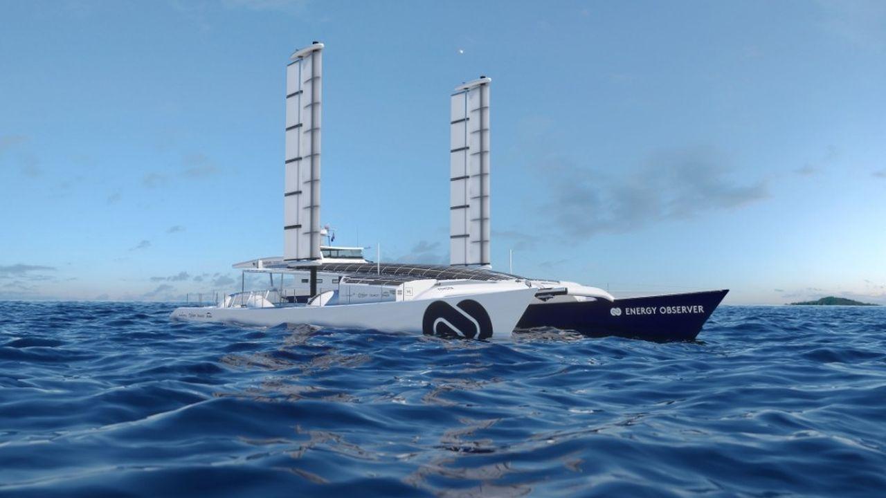 Les «Oceanwings» doivent permettre notamment «d'augmenter la production d'électricité pendant la navigation grâce à la production d'énergie hydrolienne»