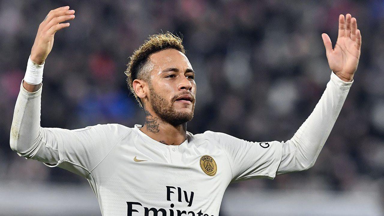Neymar avec le Paris-Saint-Germain face à Bordeaux, le 2décembre 2018.