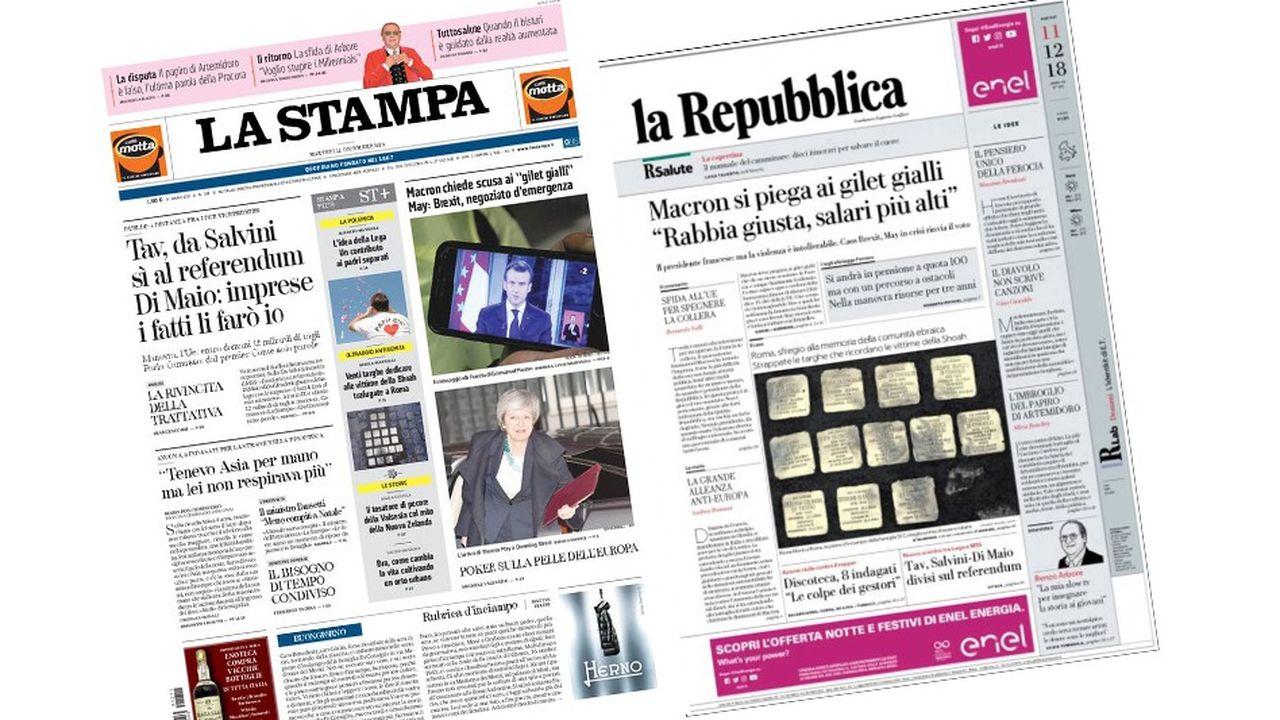 La presse italienne souligne les lacunes des annonces d'Emmanuel Macron sur les «gilets jaunes»