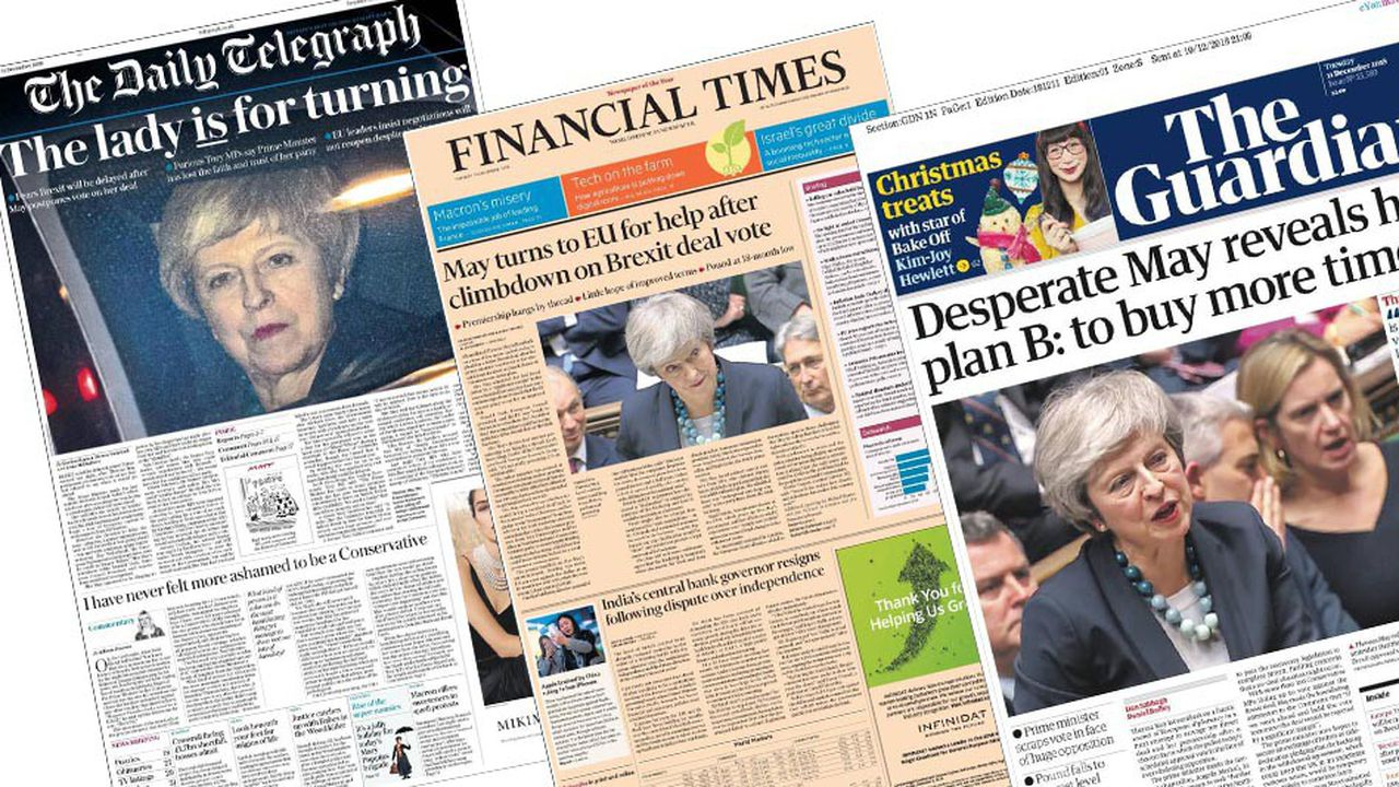 Les journaux britanniques soulignent l'impasse dans laquelle se trouve Theresa May