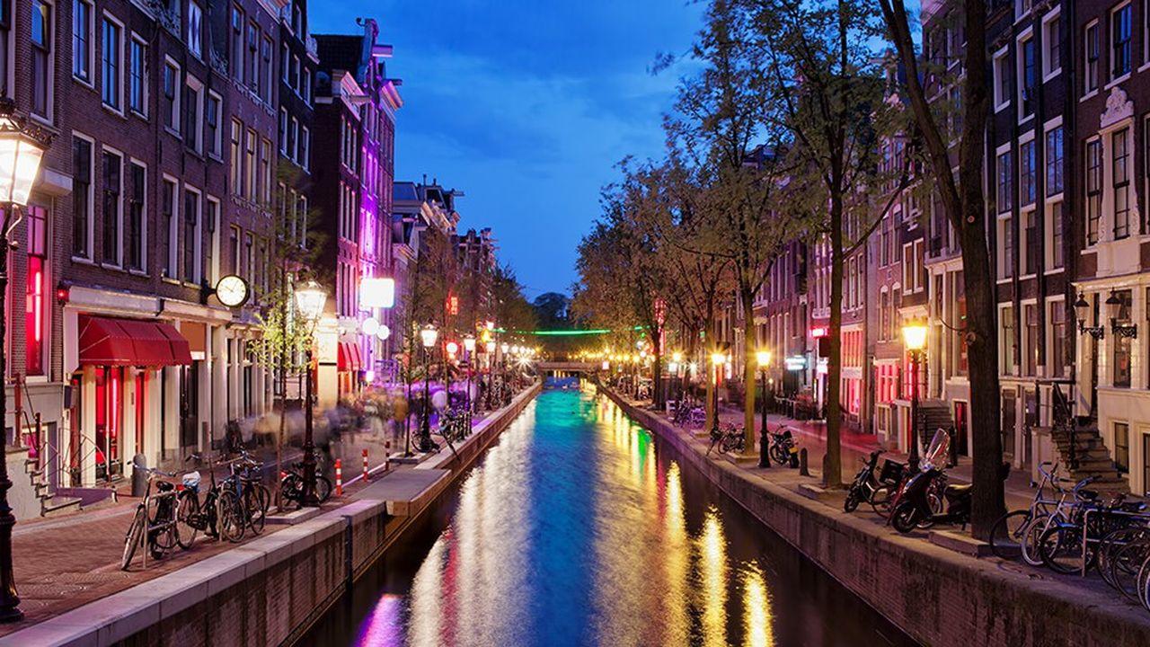 Le «quartier rouge» d'Amsterdam.