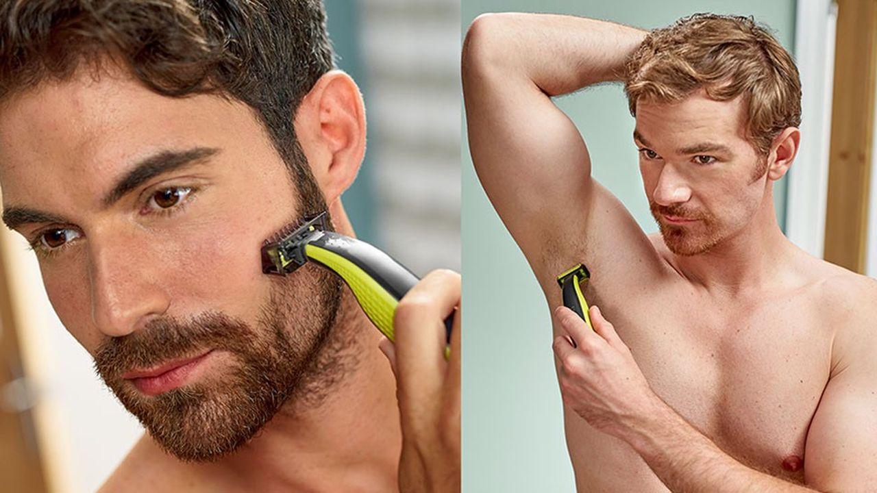 Plus d'un homme sur deux alterne barbe et visage rasé et 64% contrôlent la pilosité de leur corps