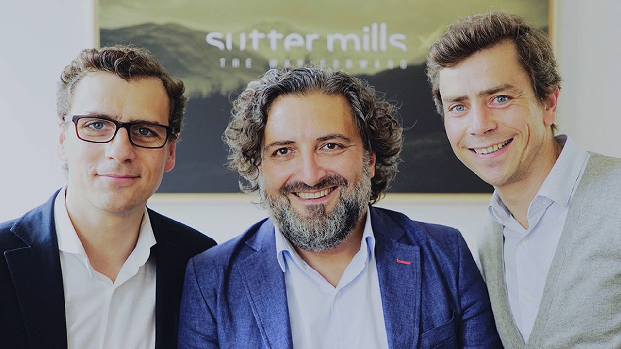 Les trois fondateurs de Sutter Mills, Guillaume Cardon, Olivier Mazeron et Xavier Cardon