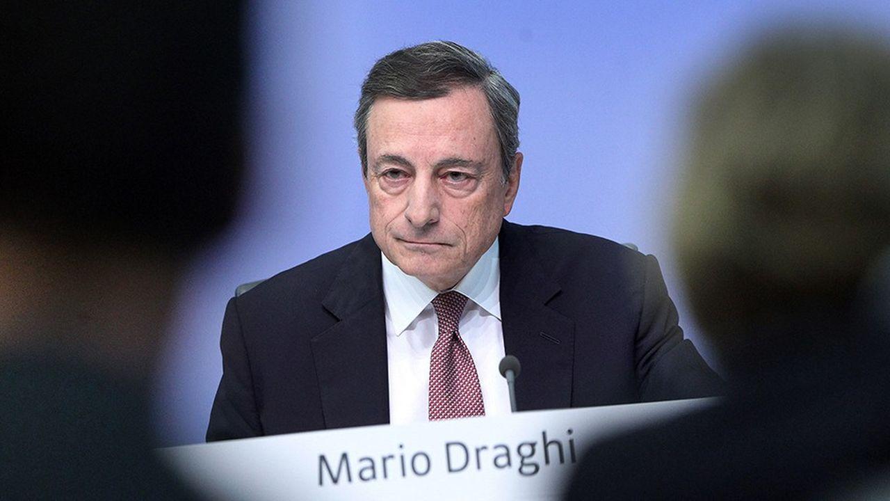 Mario Draghi, dirigeant de la Banque centrale européenne, quittera ses fonctions en octobre2019.
