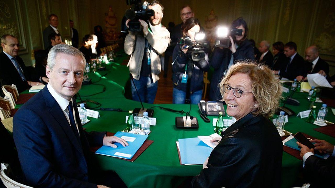 Les représentants des partenaires sociaux ont été reçus jeudi matin parMuriel Pénicaud, ministre du Travail, et Bruno Le Maire, ministre de l'Economie et des Finances.