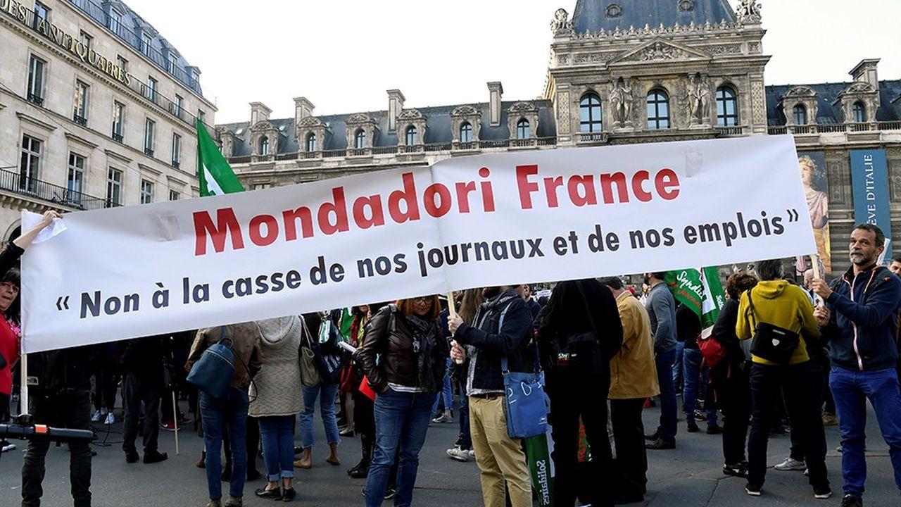 Les salariés de Mondadori France avaient déjà manifesté le 8octobre dernier contre la cession à Reworld.