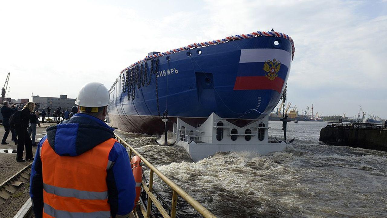 Rosatom construit huit nouveaux brise-glace à propulsion nucléaire. Le Sibir, en construction en Sibérie, sera livré en 2020.