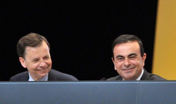 Louis Schweitzer et Carlos Ghosn à l'assemblée générale de Renault en mai 2009