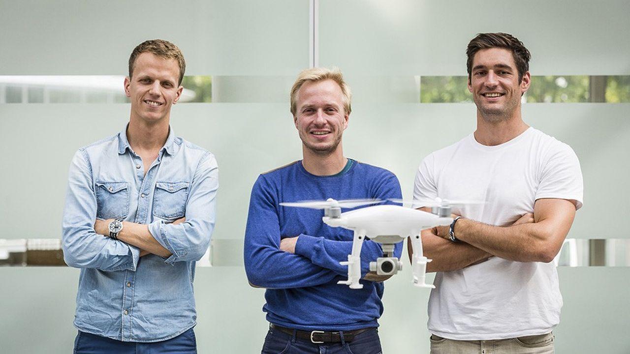 Les trois cofondateurs de Sterblue: Nicolas Draber, directeur des opérations, Geoffrey Vancassel, directeur général, et Vincent Lecrubier, directeur technique (de gauche à droite).