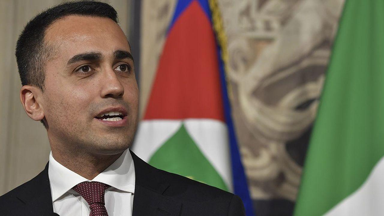 Le dirigeant du mouvement M5S et ministre du Développement économique, du Travail et des Politiques sociales, Luigi Di Maio.