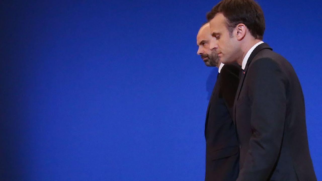 Edouard Philippe et Emmanuel Macron s'attellent désormais à la mise en oeuvre des mesures.