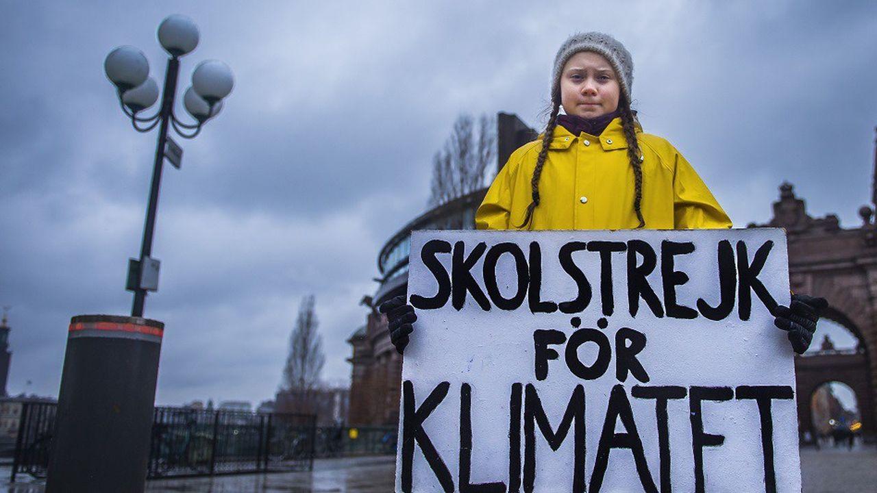 Greta Thunberg est «en grève scolaire pour le climat». Tous les vendredis, elle sèche l'école pour manifester devant le Parlement Suédois.