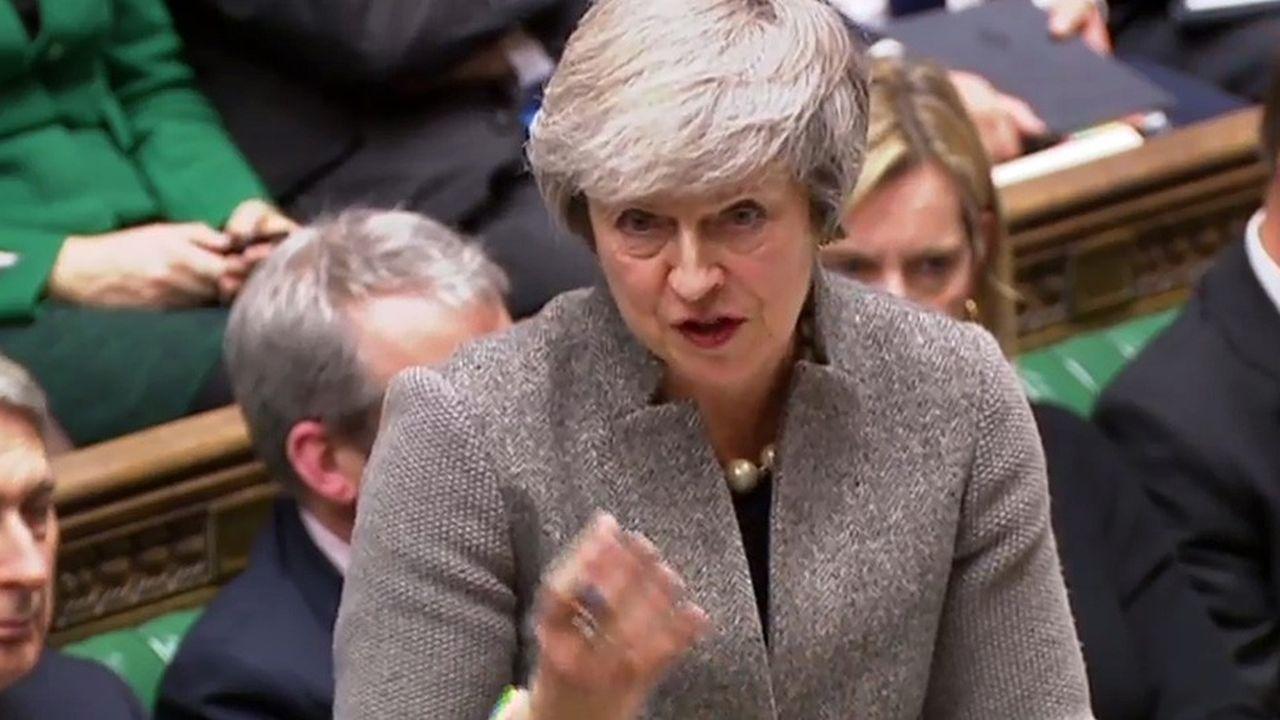 La Première ministre britannique Theresa Maydevant la Chambre des communes le 17décembre 2018.