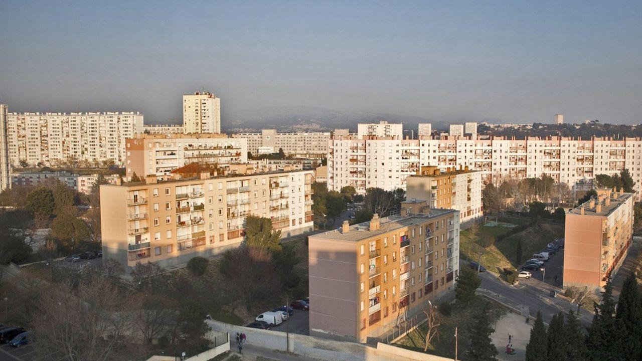 La cité du Parc Corot, dans les quartiers nord de Marseille.