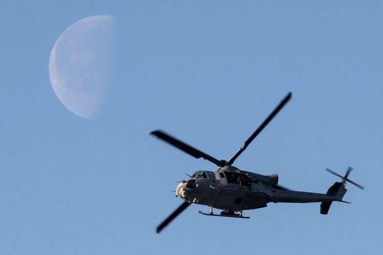 Un hélicoptère de l'armée américaine lors d'un exercice de l'Otan en Norvège en octobre2018