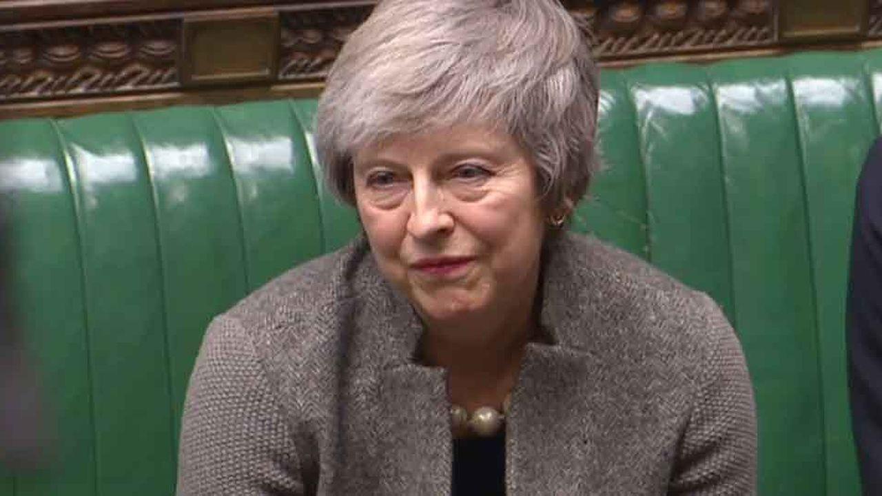 La Première ministre britannique Theresa May à la Chambre des communes.