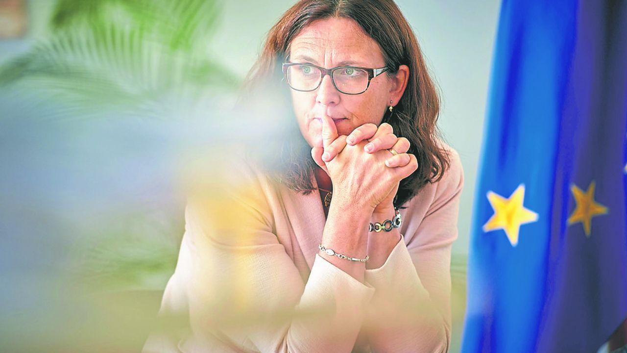 La commissaire suédoise défend vigoureusement un agenda de libéralisation des échanges.