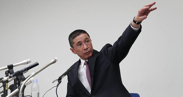 Hiroto Saikawa, le patrpon de Nissan, lors de la conférence de presse du 19 novembre2018