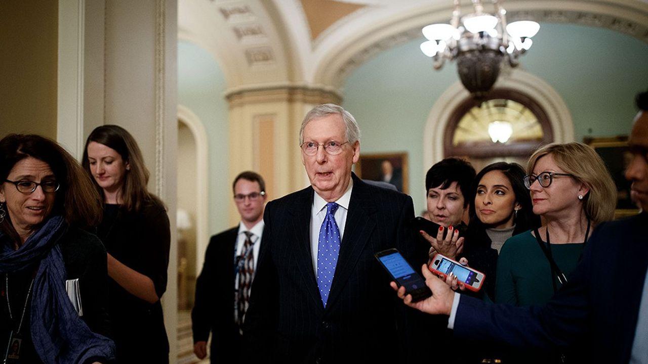 Le leader républicain au Sénat Mitch McConnell est à l'origine du compromis trouvé sur le budget au Congrès.