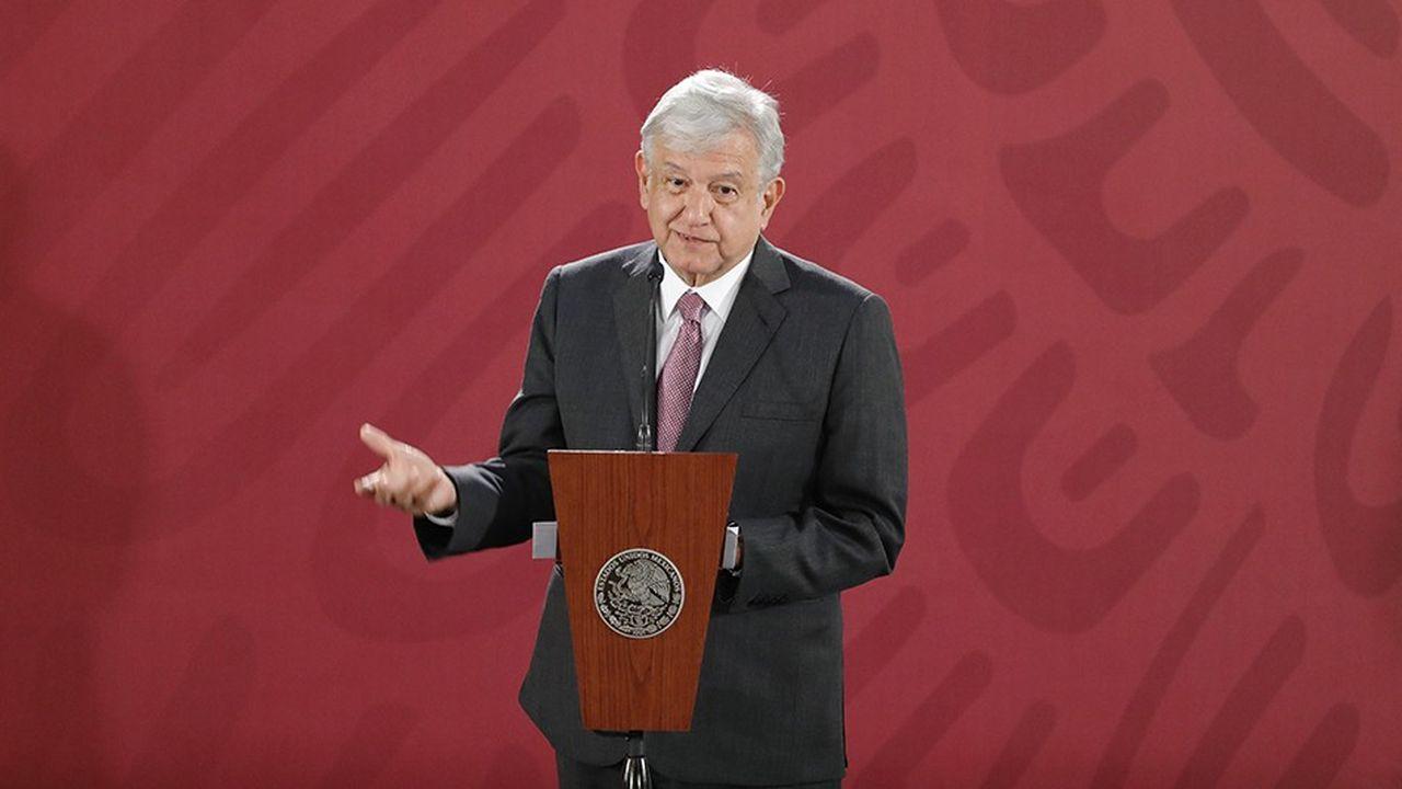 Le président mexicain Andres Manuel Lopez Obrador est parvenu à un accord avec les créanciers après l'annulation du projet d'aéroport.