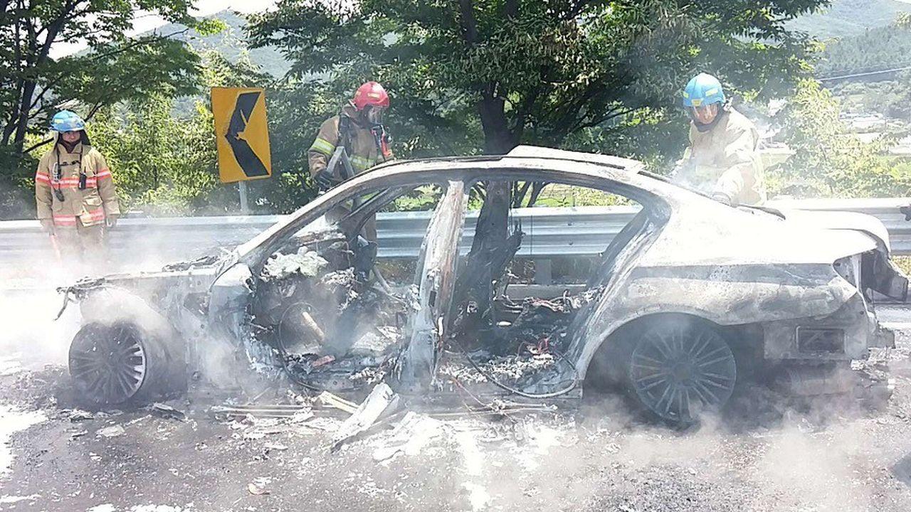 Selon la presse sud-coréenne, 40 cas d'incendies de BMW ont été répertoriés dans le pays cet été