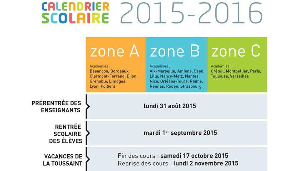 Calendrier Scolaire Bordeaux.Le Calendrier Scolaire 2015 2016 Les Echos