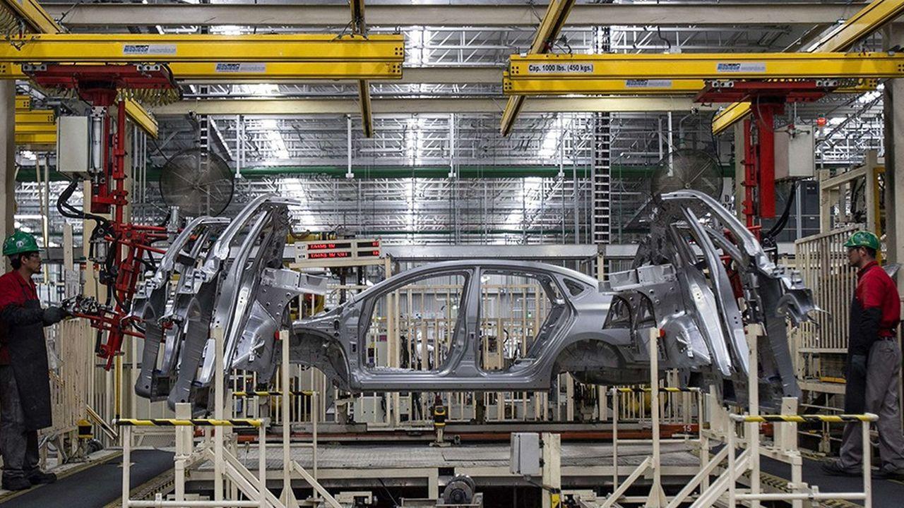 Une usine Nissan au Mexique, à Aguascalientes.