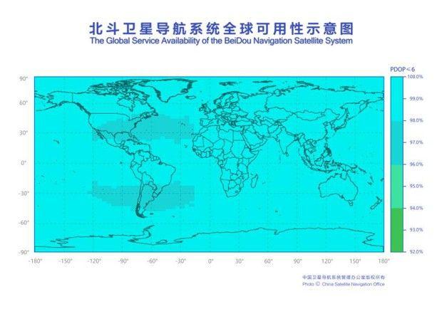 Selon Pékin, Beidou est désormais opérationnel à plus de 95% sur l'ensemble de la planète
