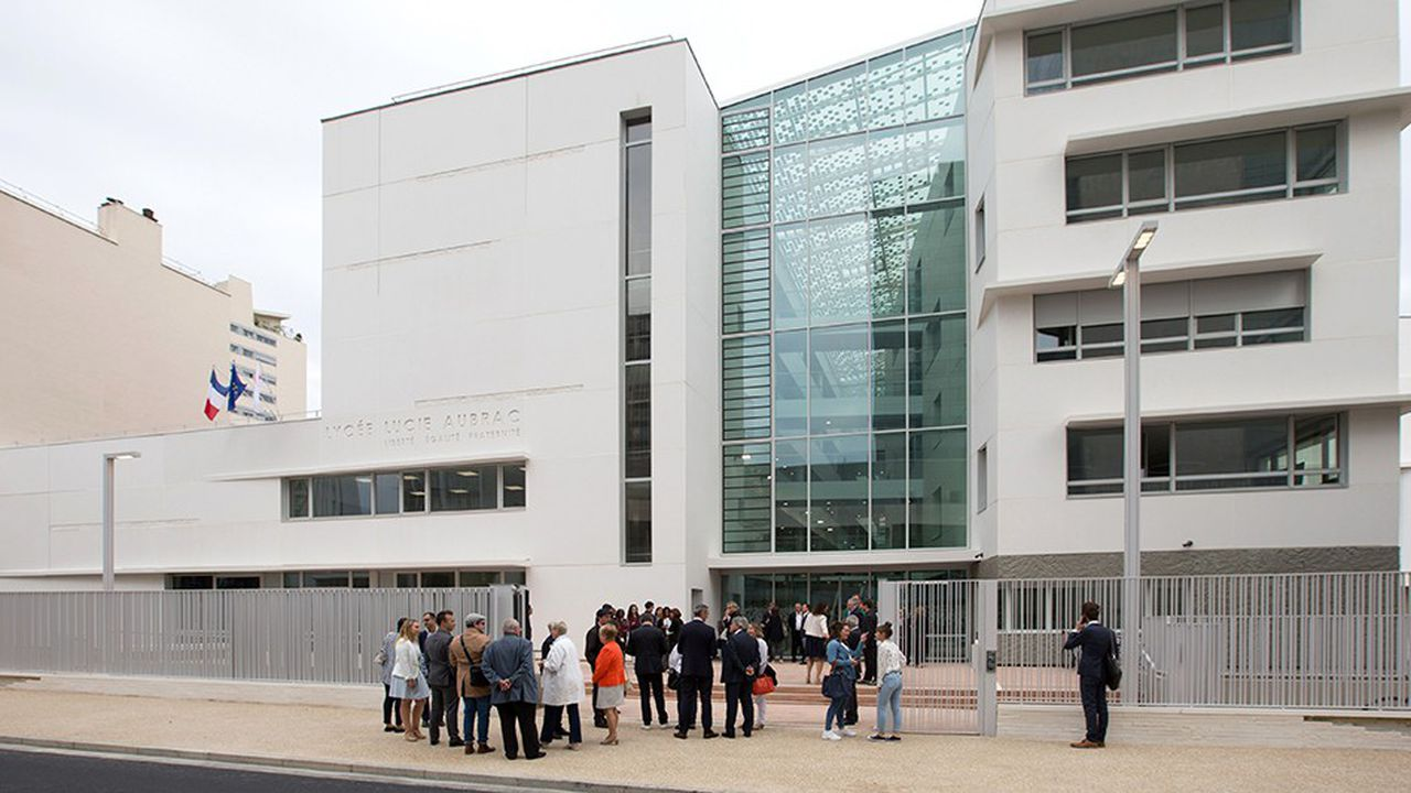 Les élèves de la future école européenne qui s'installera à La Défense en septembre prochain seront en partie hébergés au lycée Lucie Aubrac de Courbevoie, un établissement inauguré en septembre2018.