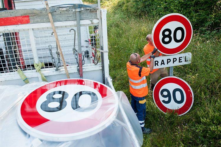 Depuis le 1erjuillet, la vitesse maximale sur les routes sans séparateur central est abaissée de 90 à 80km/h.