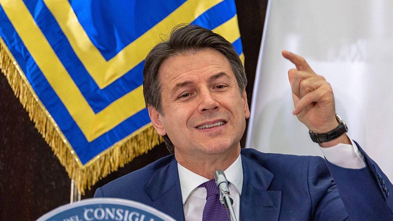 La conférence de presse de fin d'année du président du conseil italien,Giuseppe Conte.