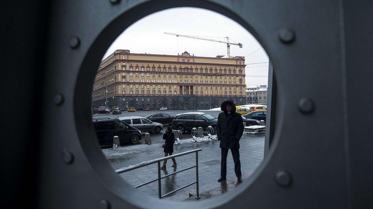 Le siège des services secrets russes du FSB à Moscou en Russie