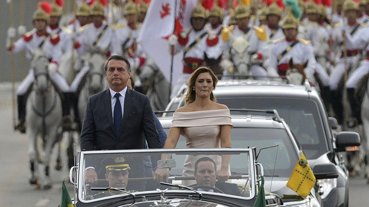 Entre 250.000 et 500.000 personnes ont fait le déplacement à Brasilia pour assister à la cérémonie d'investiture de Jair Bolsonaro le 1erjanvier.