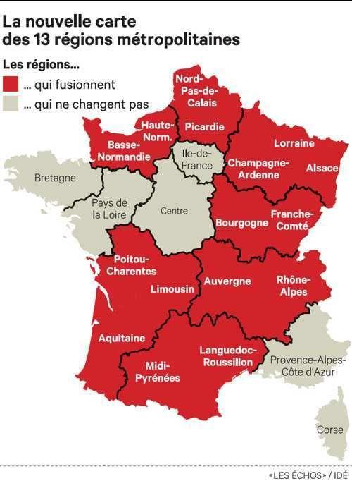 Nouvelle Carte A 13 Regions Elle Peut Toujours Bouger Previent Manuel Valls Les Echos