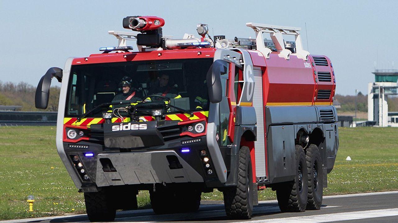 Camion de pompiers de l'entreprise Sides.
